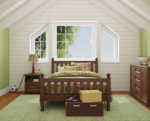 bedroom with replacement windows