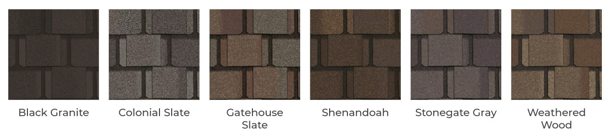 Belmont Singles Roofing color options