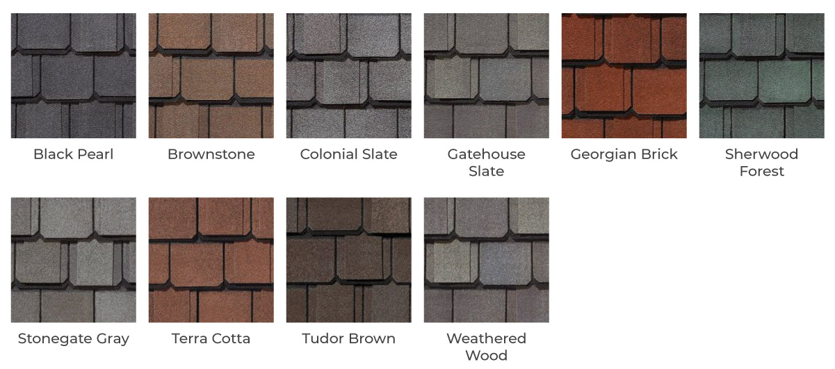 Grand Manor Singles Roofing color options