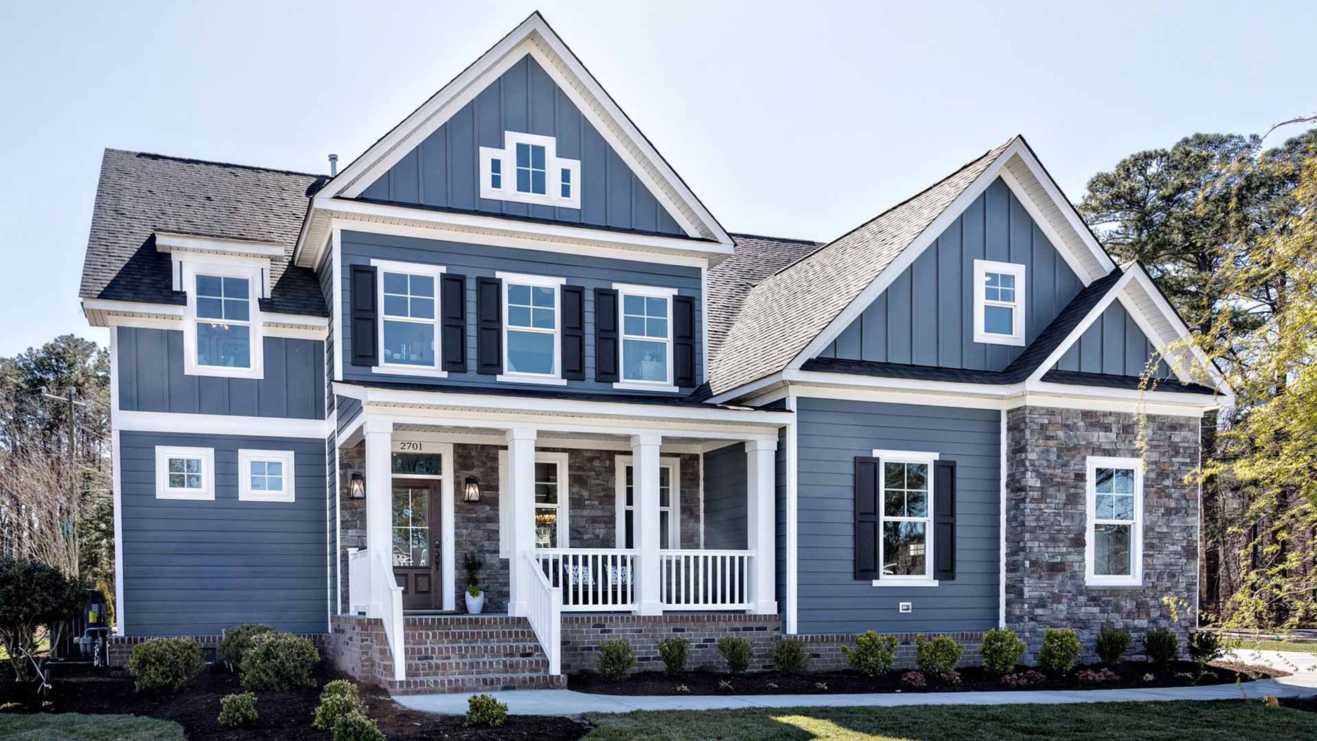 home with vinyl siding