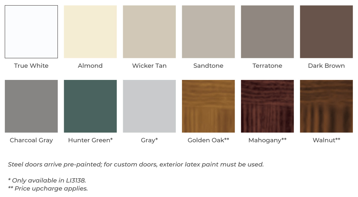 garage door color options