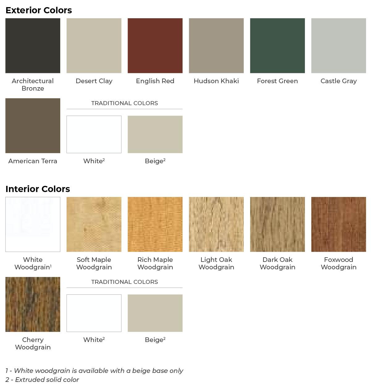 Window Color Options