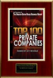 top 100 private companies plaque