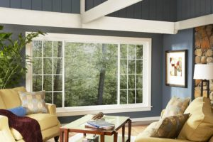 sliding window in living room