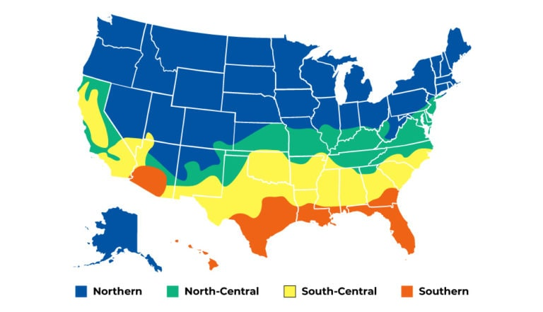 US climate map for U factor