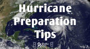 hurricane preparation tips
