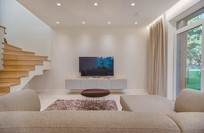 tv turned off in living room