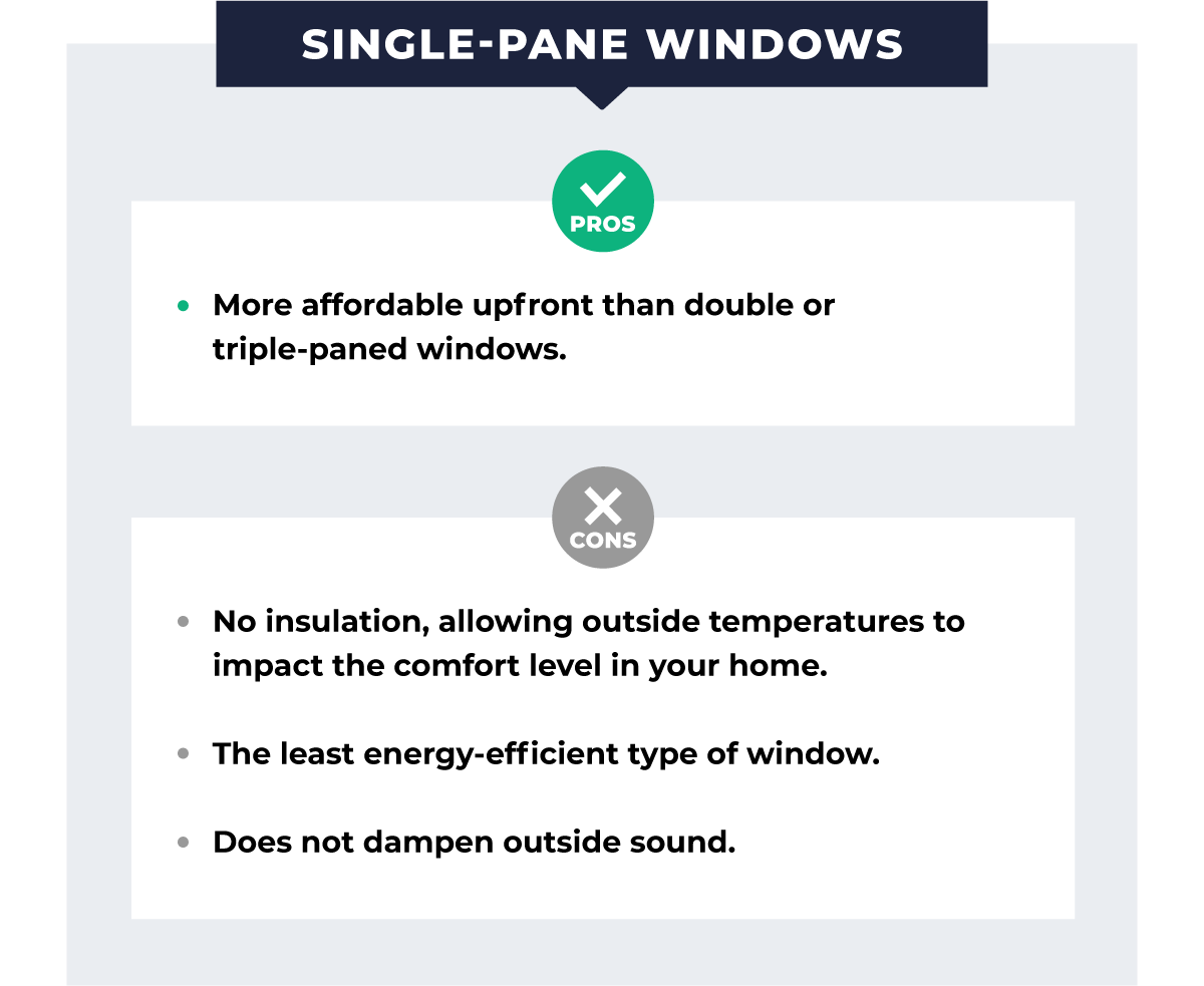 pros and cons of single pane windows