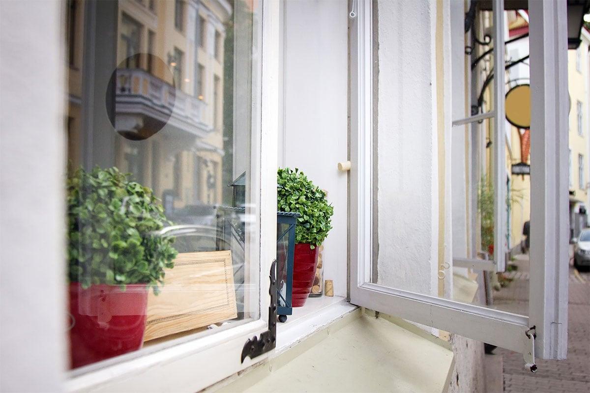open casement window