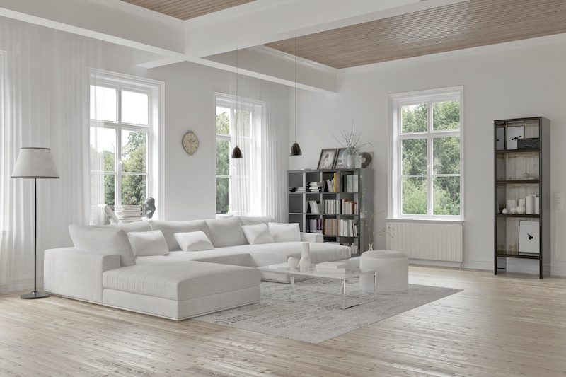 casement and awning windows in a living room