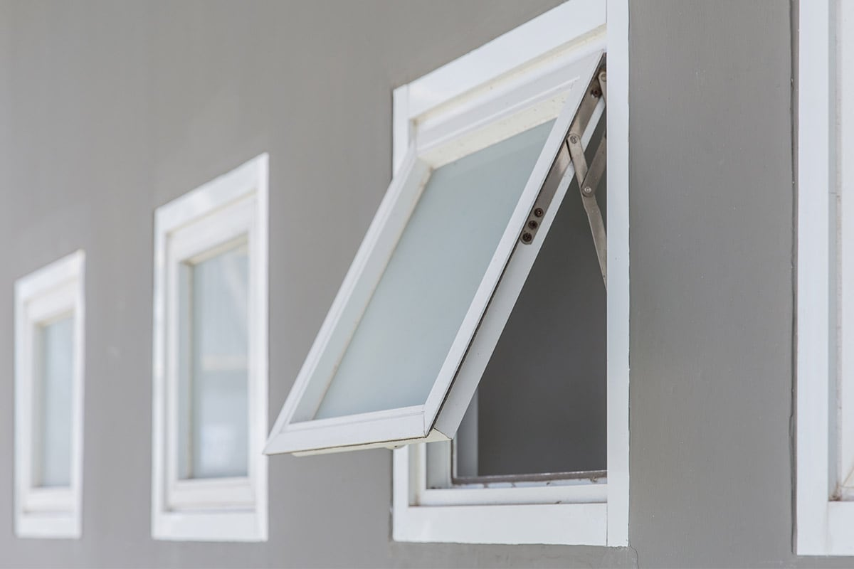 open awning window