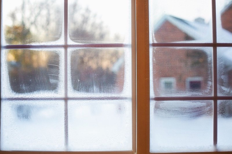 windows with frost
