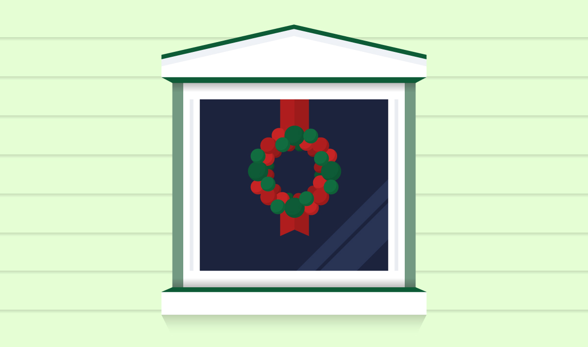 ornament wreath for christmas