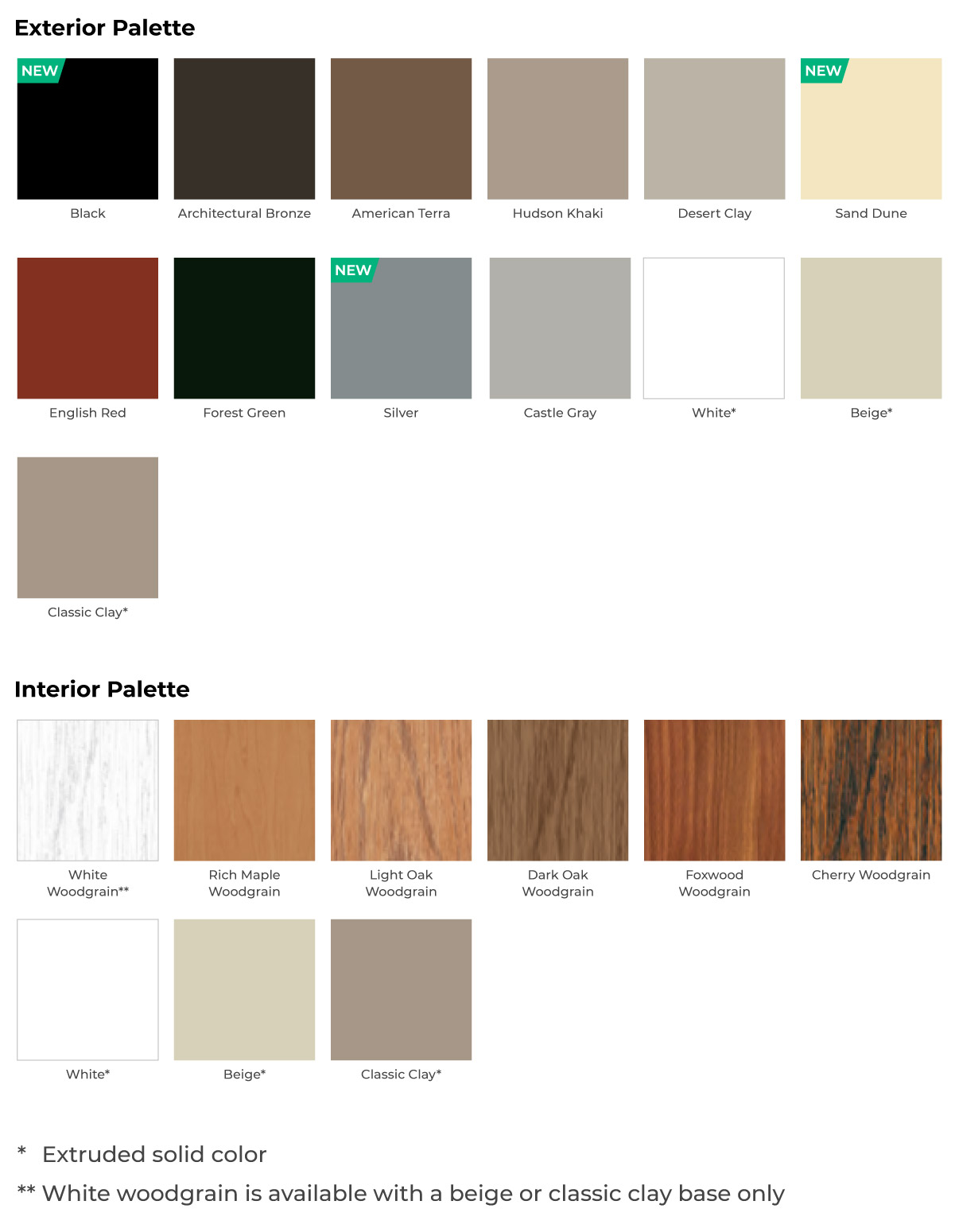 Impact window color options