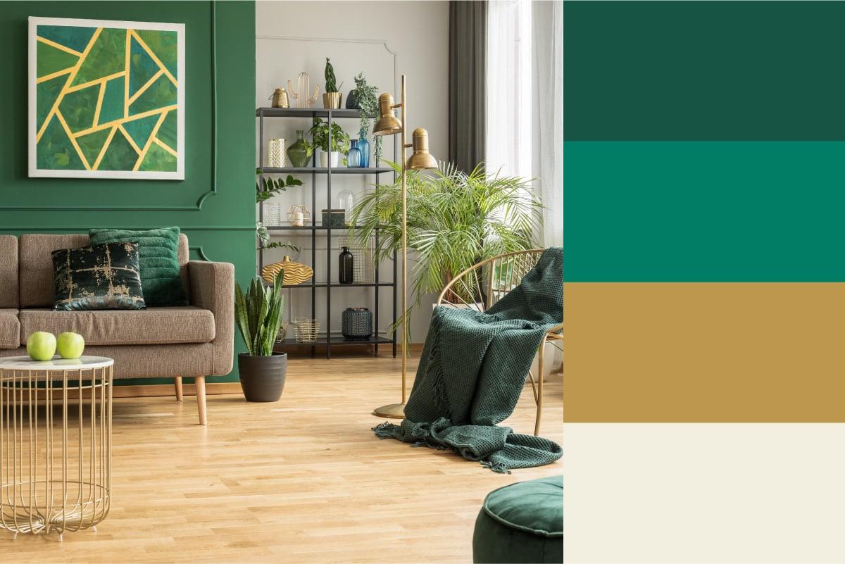 jewel tone room color palette