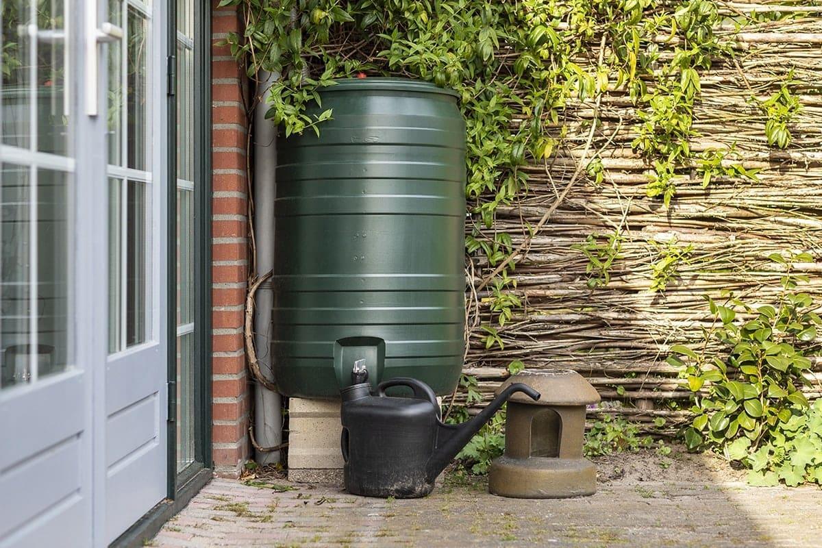 rain barrel with spigot